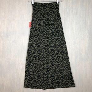 NWT Mossimo ikat print maxi skirt green XS